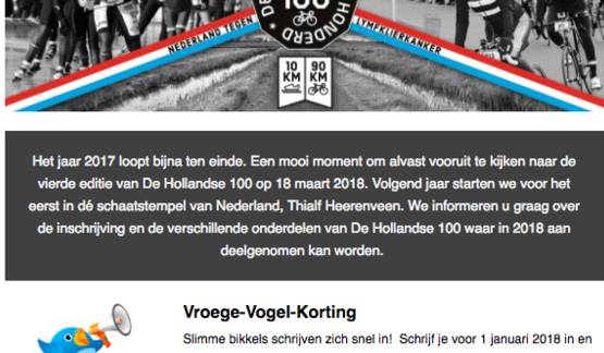 cc9b17af27d SAVE THE DATE: De Hollandse 100 2020 op zondag 15 maart 2020 in Thialf