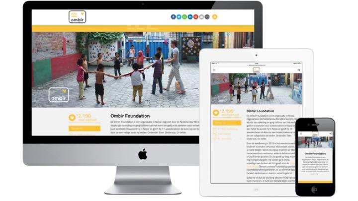 Crowdfunding responsive design